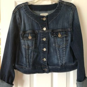 Torrid size 0 cropped women's jean jacket